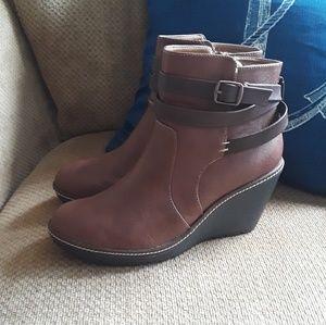 💋wedge short boot bootie